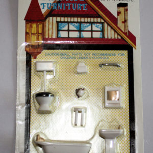 1-48 scale 8 pce bathroom set