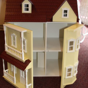Cream and Terracotta Dolls House