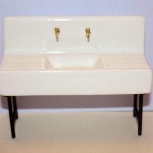 White Porcelain Sink
