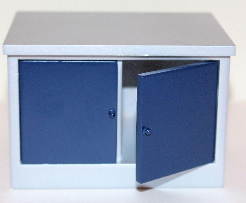 Silver blue  Island bench