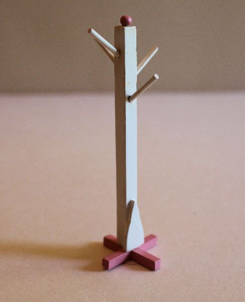White and Pink Coat Stand