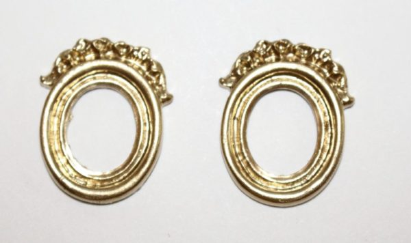 Sml Gold Decorated oval frames