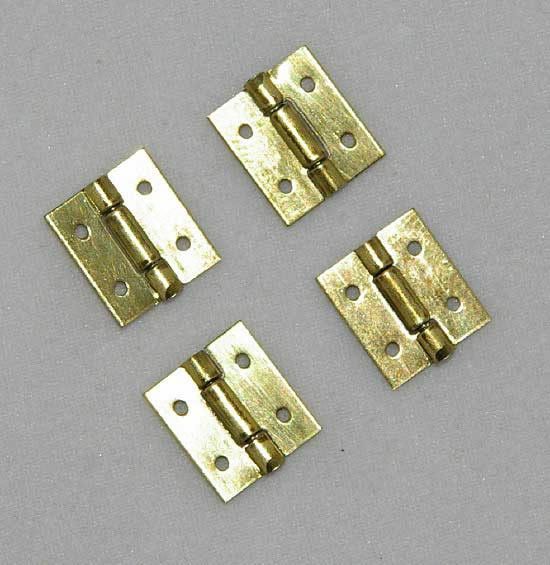 Small dollhouse door hinges