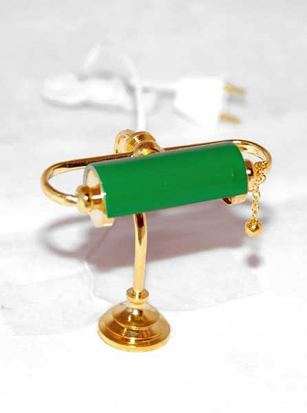 Old fashioned green desk lamp