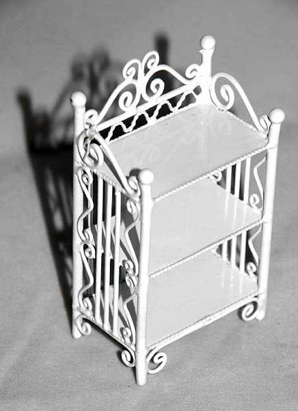 White wire 2 tier shelf