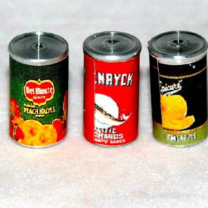 Food cans, pack of three