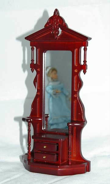 Mahogany hallstand with mirror