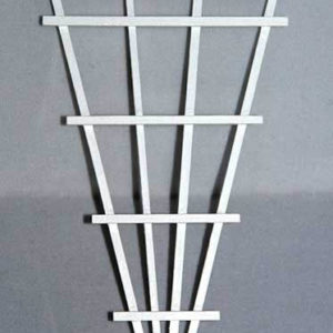 White wooden plant climber