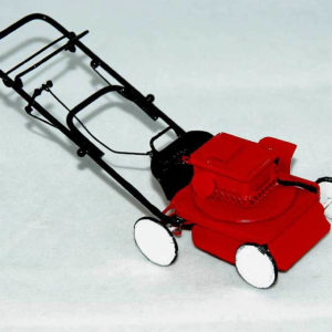 Red and black lawn mower