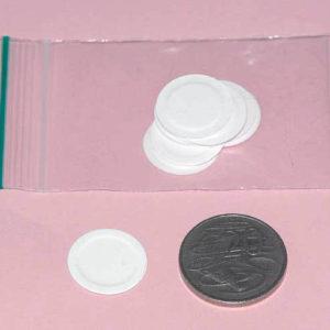 Round paper plate, 2cm diameter