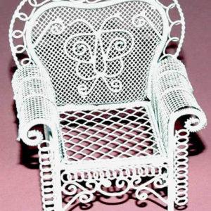 White wire chair