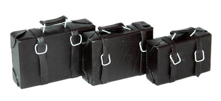 Suitcases, set of 3, non-opening