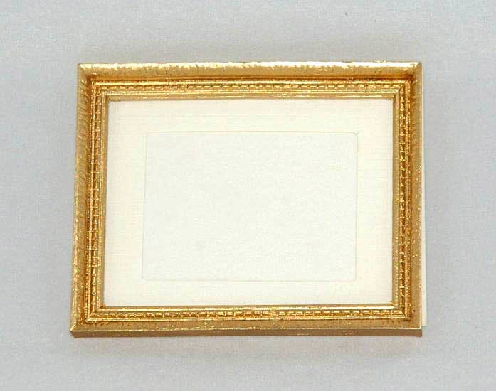 Picture frame, gold with card backing