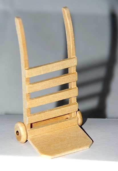 Wooden trolley