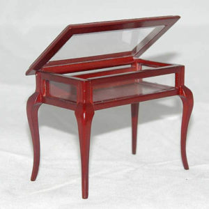 Display cabinet with opening top