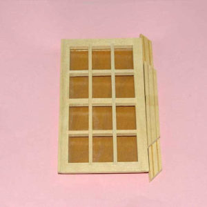 12 pane window with architrave