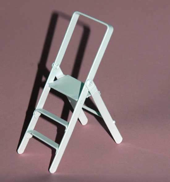 Step ladder, white