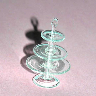Cake stand, 3 tier, clear glass