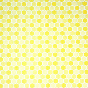 Honeycomb tile in yellow