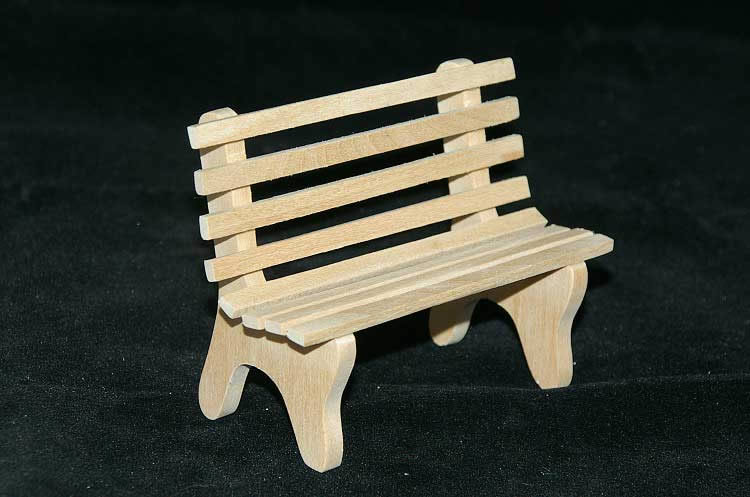 Garden seat raw wood