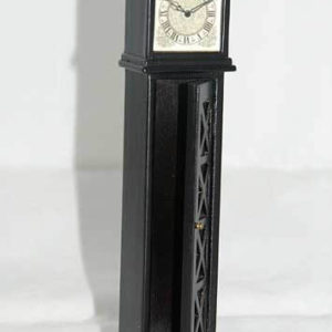 Grandfather clock, black with opening front