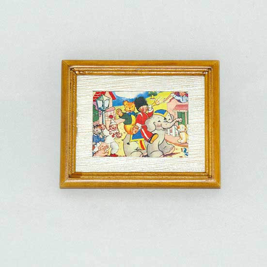 Wooden framed circus picture