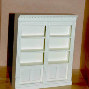 Double ivory wall unit for home or shop