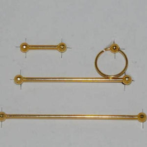 Gold bathroom fittings