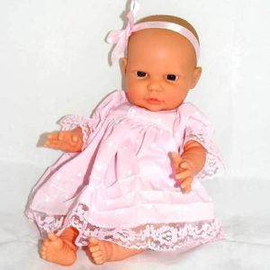 Bath baby doll, pink dress