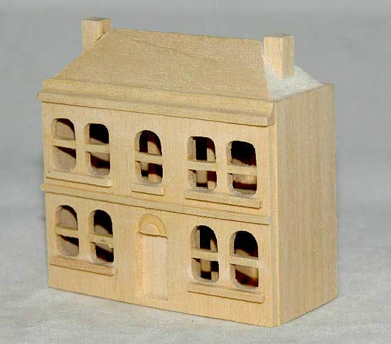 Miniature pine dollhouse