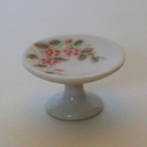 Cake stand, pink flowered,