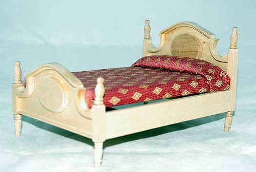 Double bed,raw wood