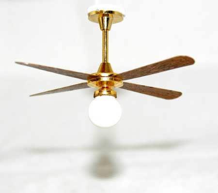 Electric light ceiling fan