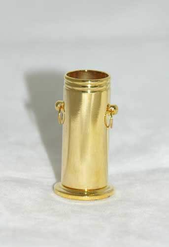Gold umbrella holder