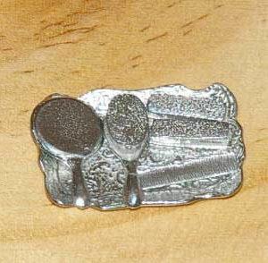 Silver hairbrush set