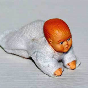 Baby doll crawling position.