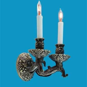 Double bronze classical wall light