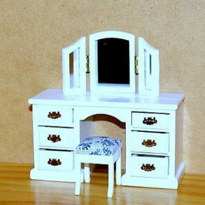 Dressing table with stool and three wing mirror  set