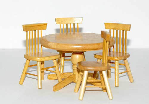 5 piece dining set pine