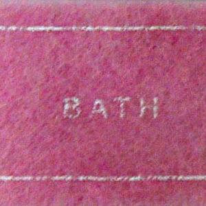 Pink bathmat