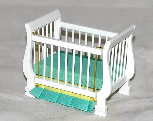 White framed cot