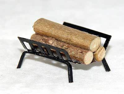 Log fire grate