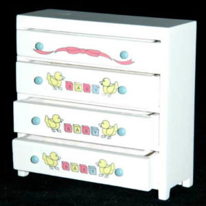 Chest of drawers with childrens pictures
