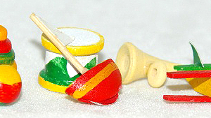 Assorted wooden nursery toys