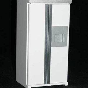 White fridge, opening doors and drawers