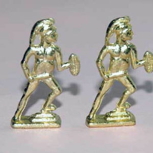 Gold warrior statues set of 2