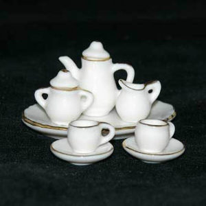Tea set gold rimmed