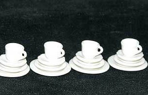White quality porcelain dinner service for 4