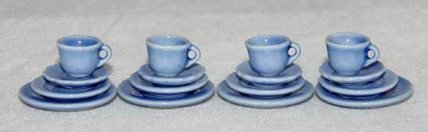 Blue good quality porcelain dinner service