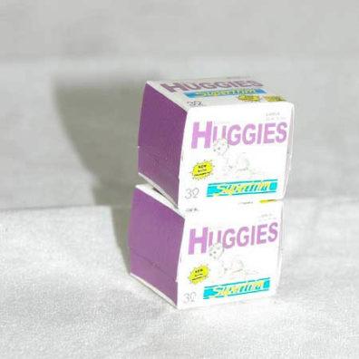 Huggies nappy boxes